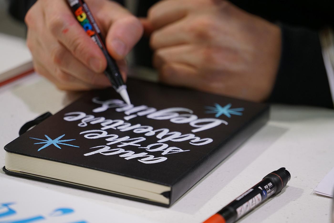 新鲜墨水字体设计手法