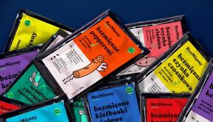 """""""无肉"""" 素食产品线标志设计和包装设计"""