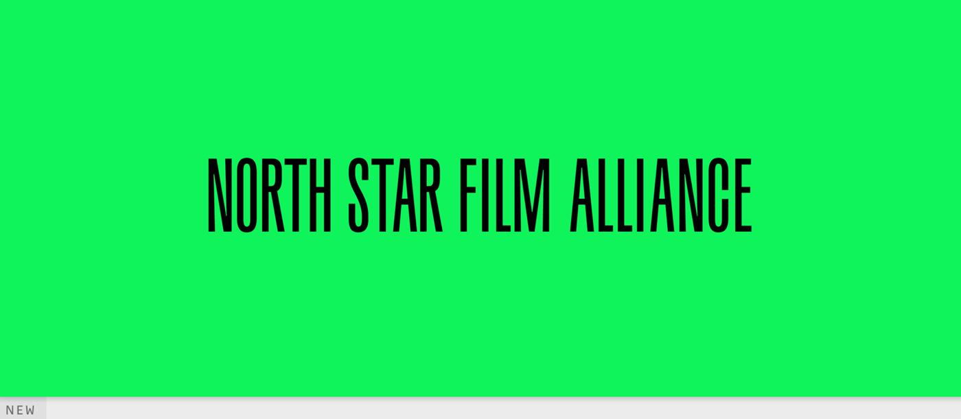 北星电影联盟标志设计绿和黑色彩运用