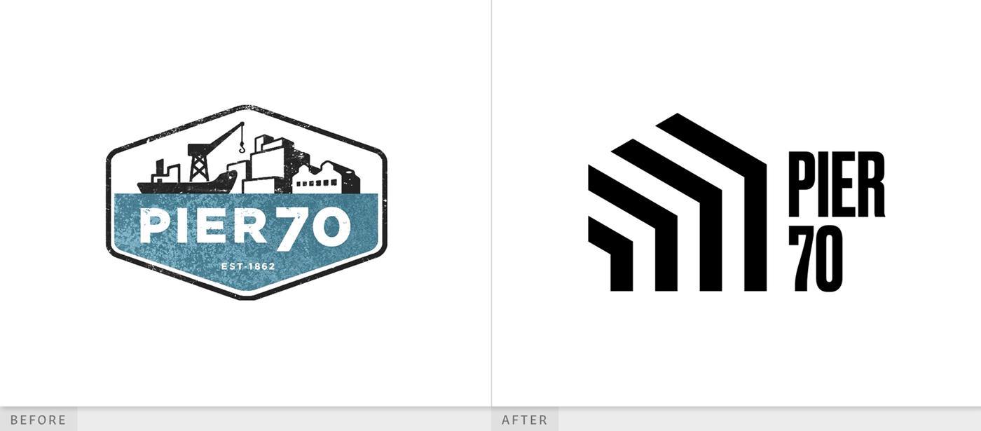 第70码头由设计公司开发项目标志设计