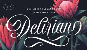 不朽的书法字体设计具有当代意境和完美的形式