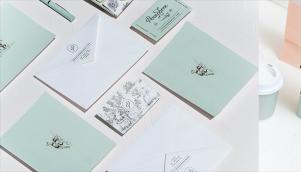 知名设计公司执行咖啡馆和面包店的标志设计