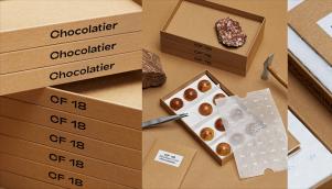 巧克力店系统包装设计在精美的纸箱上的压花工艺