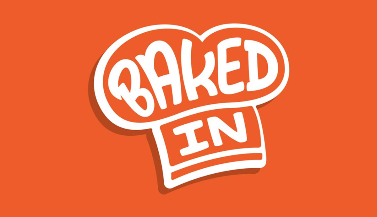平面设计公司为基于订阅的家庭烘焙套装公司Baked In设计了新的标志设计和视觉形象